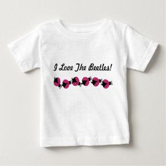 Rosa Marienkäfer-Baby-Shirt Baby T-shirt