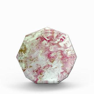 Rosa Marmor Acryl Auszeichnung