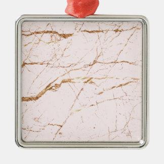 Rosa Marmor Silbernes Ornament