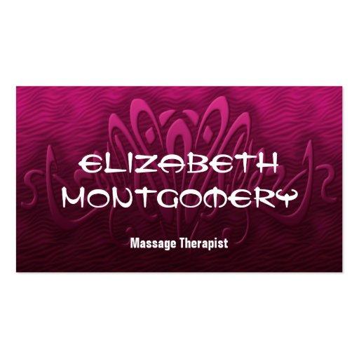 Rosa Massage-Therapie-Verabredungs-Visitenkarte