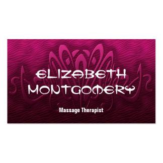 Rosa Massage-Therapie-Verabredungs-Visitenkarte Visitenkarten