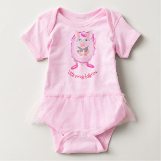 Rosa Mäuseballerina-Babyausstattung Baby Strampler