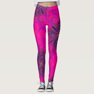 Rosa mechanische Krake Leggings