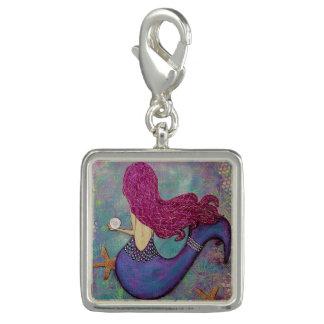 Rosa Meerjungfrau-Charme, Meerjungfrau mit einer Charm