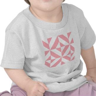 Rosa Melone-geometrisches Deko-Würfel-Muster T Shirt