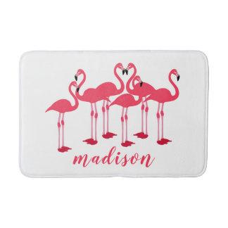 Rosa Menge der Flamingos themenorientiert Badematten