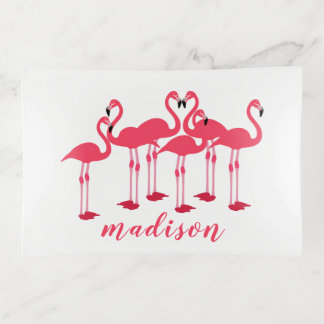 Rosa Menge der Flamingos themenorientiert Dekoschale