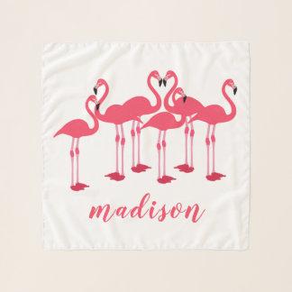 Rosa Menge der Flamingos themenorientiert Schal