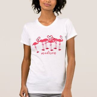 Rosa Menge der Flamingos themenorientiert T-Shirt