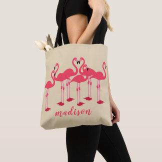 Rosa Menge der Flamingos themenorientiert Tasche