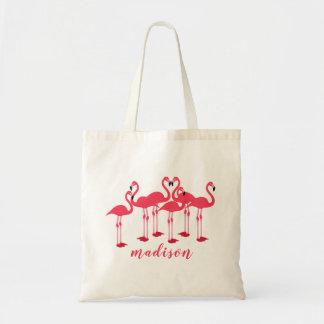 Rosa Menge der Flamingos themenorientiert Tragetasche