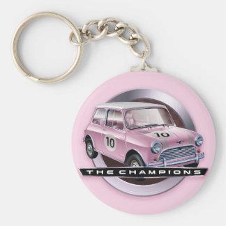 Rosa Mini Coopers S Schlüsselanhänger