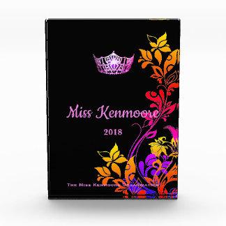 Rosa mit Blumenkronen-Acrylpreis Miss Amerikas Acryl Auszeichnung