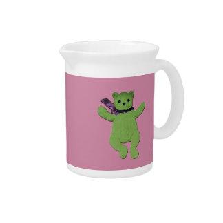 Rosa mit grünem Teddybären Krug
