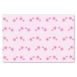 Rosa mit Pinksternen Seidenpapier