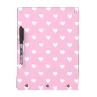 Rosa mit weißes Herz-trockenem Löschen-Brett Whiteboards