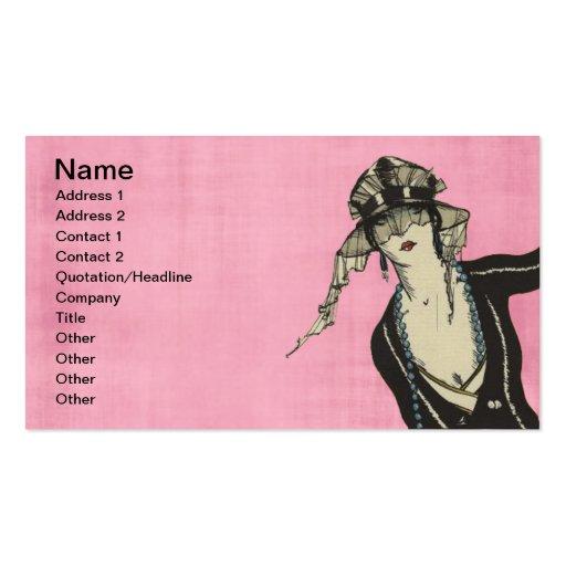 Rosa Mode-Visitenkarten