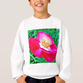 Rosa Mohnblume Sweatshirt