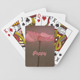 Rosa Mohnblumen-Blume Spielkarten