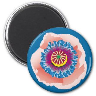 Rosa Mohnblumenmagnet Runder Magnet 5,1 Cm
