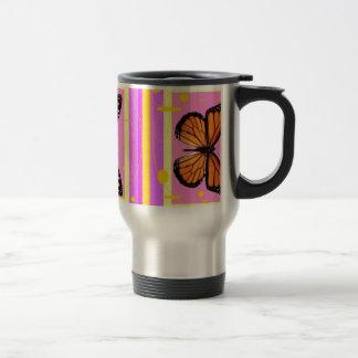 Rosa Monarchfalter-Geschenke durch Sharles Reisebecher