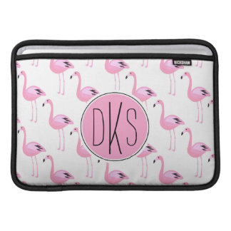 Rosa Monogramm der Flamingo-| MacBook Air Sleeve