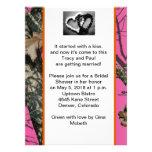 Rosa moosige Eichen-Brautparty-Einladung