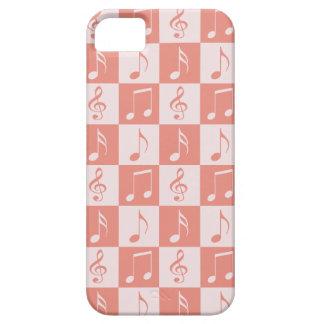 Rosa musikalisches Schachbrett-Muster Etui Fürs iPhone 5