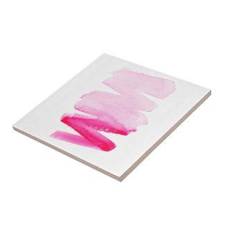 Rosa mutige girly Aquarellbürstenschlagmänner Keramikfliese