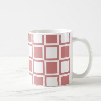 Rosa mutige Mod-Quadrate Kaffeetasse
