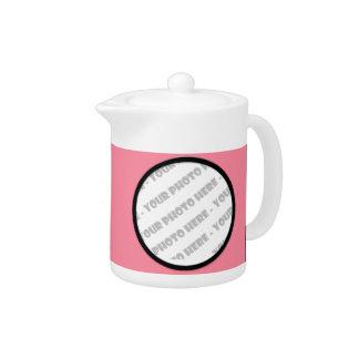 Rosa mutige personalisierte Foto-Teekanne