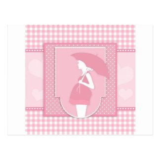 rosa Mutterschaft Postkarte