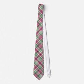 Rosa n-grünes kariertes bedruckte krawatten