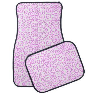 Rosa NeonGepard-Tierdruck Autofußmatte