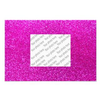 Rosa NeonGlitter Photodruck