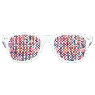 Rosa Neonpaisleyblumenmuster Sonnenbrille