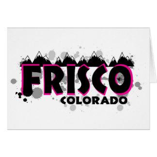 Rosa NeonSchmutz Frisco Colorado Karte