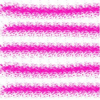 Rosa NeonWasserfarbe stripes Spritzer Foto Skulptur