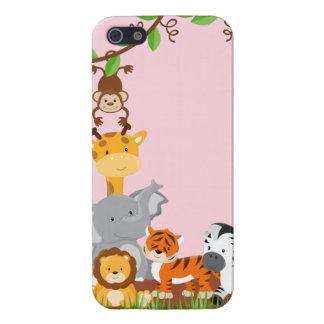 Rosa niedliche Dschungel-Baby-Tiere Savvy iPhone Schutzhülle Fürs iPhone 5