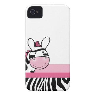 Rosa niedlicher Zebra-BlackBerry-Telefon-Kasten iPhone 4 Etuis