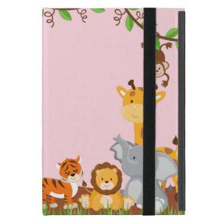 Rosa niedliches Dschungel-Baby-Tiere Powis iPad iPad Mini Hüllen
