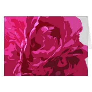 rosa notecard karte
