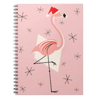 Rosa Notizbuch Flamingo-Sankt Spiral Notizblock