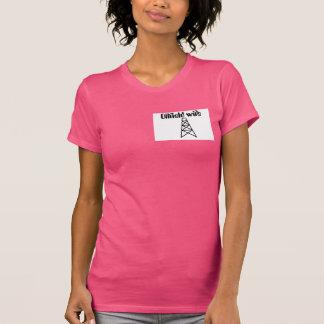 rosa Ölfeld-Ehefrau-Shirt T-Shirt