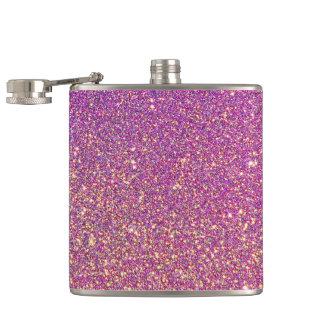 Rosa Ombre Glitter-Hintergrund Flachmann