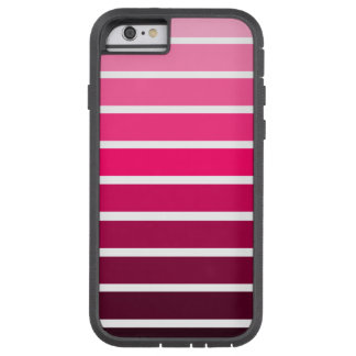 Rosa Ombre Steigungs-bunter Streifen Tough Xtreme iPhone 6 Hülle