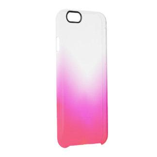 Rosa orange Eis klar Durchsichtige iPhone 6/6S Hülle