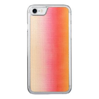 Rosa orange Gelb Ombre Aquarell-Himmel Carved iPhone 8/7 Hülle