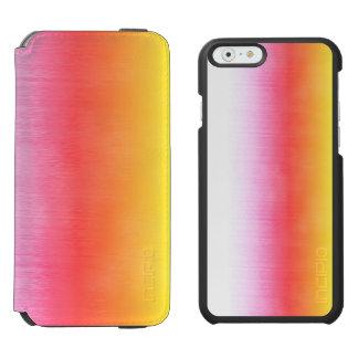Rosa orange Gelb Ombre Aquarell-Himmel Incipio Watson™ iPhone 6 Geldbörsen Hülle