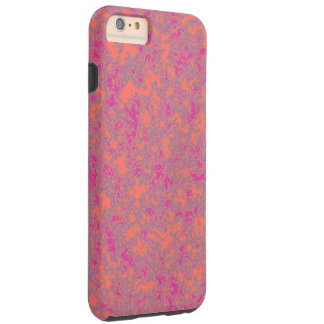 Rosa orange Patterned> starker Iphone 6 Fall Tough iPhone 6 Plus Hülle